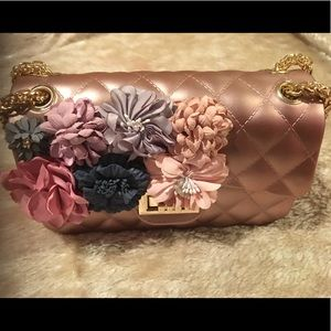 Handbags - Quilted Jelly Small 2 Way Shoulder/Clutch BagPeach